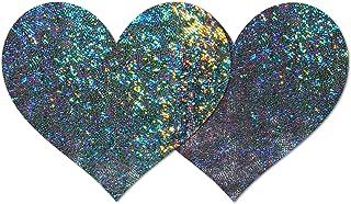 Nippies Style Gun Metal Halo Heart Waterproof Self Adhesive Nipple Cover Pasties