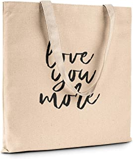 Funny Humor Novelty Fashion Tote Canvas Book Shopping Travel Bag Carry All (Love you more)