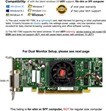 Epic IT Service - AMD Radeon HD 7350 512MB Low Profile Graphics Card (Half Size Bracket, Dual VGA), fits Slim/SFF Size Computer only