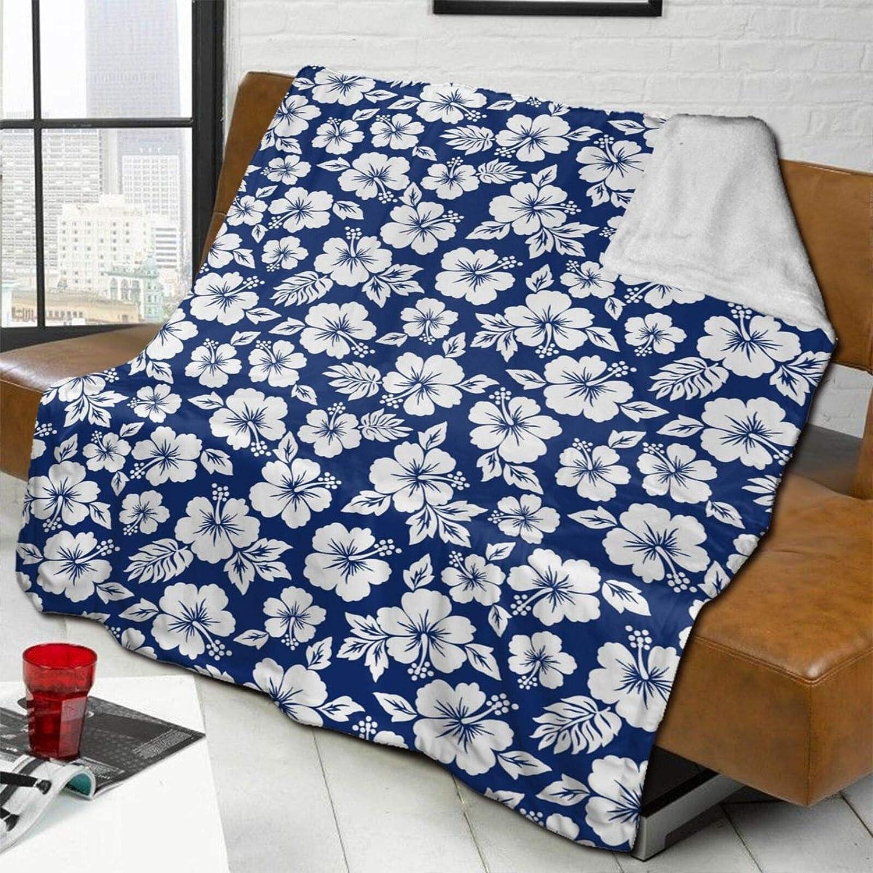 Max 65% OFF MSACRH Throw Blanket for Couch Fleece Blanke Small White Flowers Spring new work