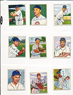1950 Bowman signed 176 Sylvester Donnelly Philadelphia Phillies d.76 card