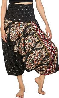 Lofbaz Women's Tribal Print 2 in 1 Harem Pants Jumpsuit
