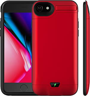 Slim Battery Case for iPhone 6 Plus/ 6S Plus/ 7 Plus/ 8 Plus, 5.5inch 8200mAh Portable Battery Smart Battery Case for Apple iPhone Portable Charging External Charger Cover Charging Case (Red)