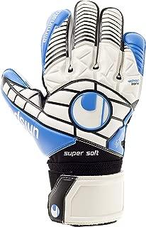 uhlsport Mens Eliminator Supersoft Flat Palm Classic Cut Goalkeeper Gloves for Soccer