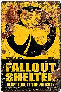 Funny HAHA USA Irish Fallout Shelter Funny Sign Aluminum, 7.75 x 11.75 inches