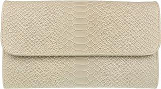 Borse Girly Borse Vera Pelle Italiana Snake Print Suede Pochette