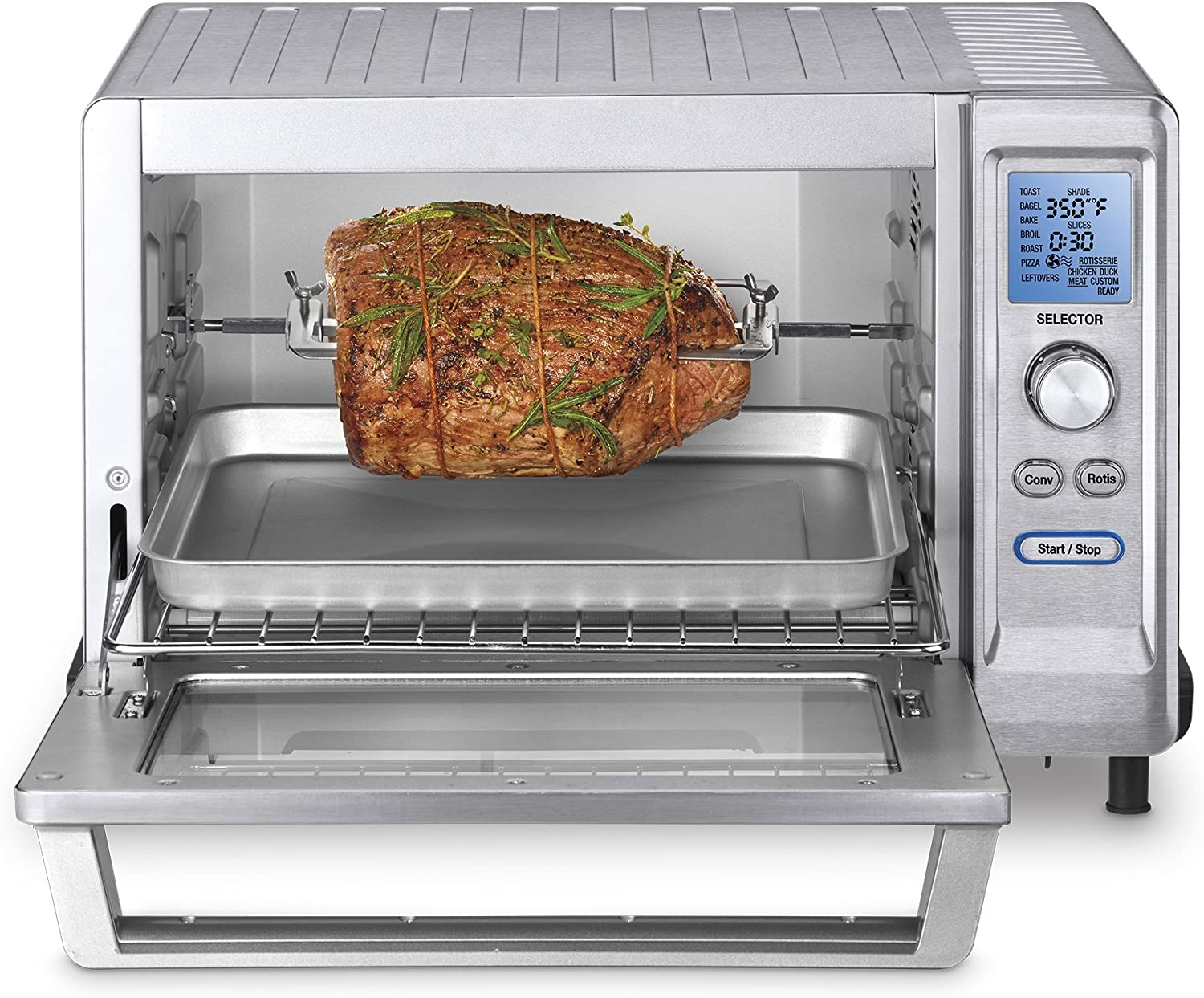 Cuisinart TOB-200 redisserie Convection Toaster Oven, Stainless Steel