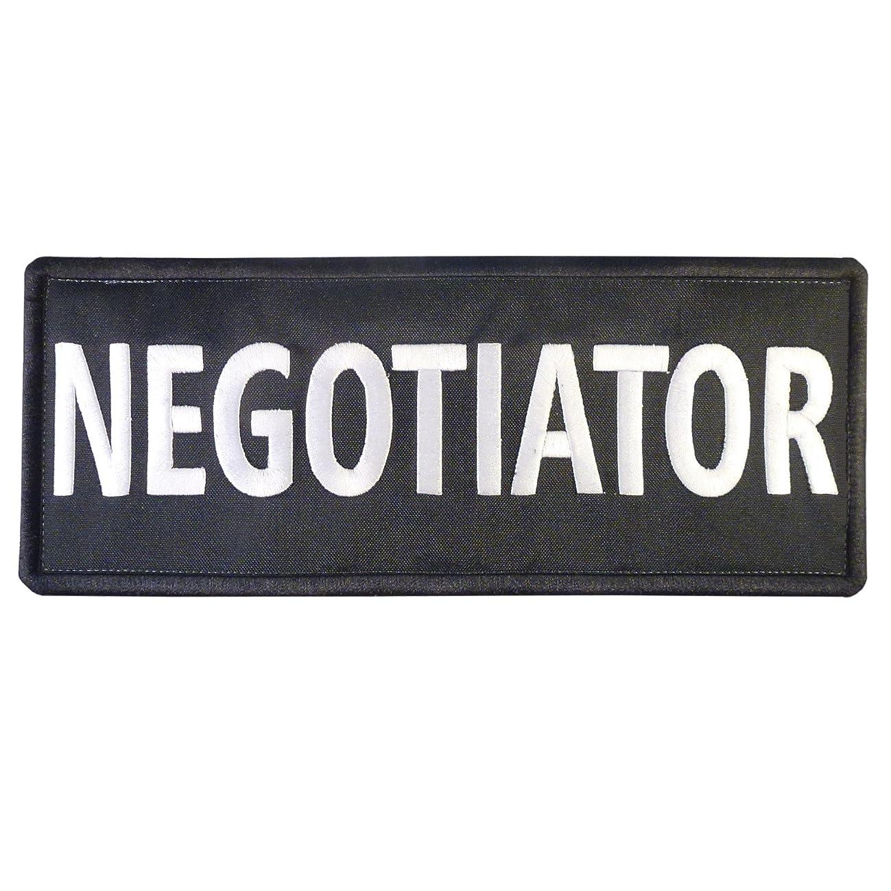 LEGEEON Negotiator Big XL 10x4 inch SWAT Vest Tactical Embroidered Nylon Hook&Loop Patch