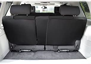 FH Group FB039013BLACK Black FB039BLACK013 Multifunctional Cloth Split Seat (Full Coverage Car Bench Backrest is Covered on All Sides)