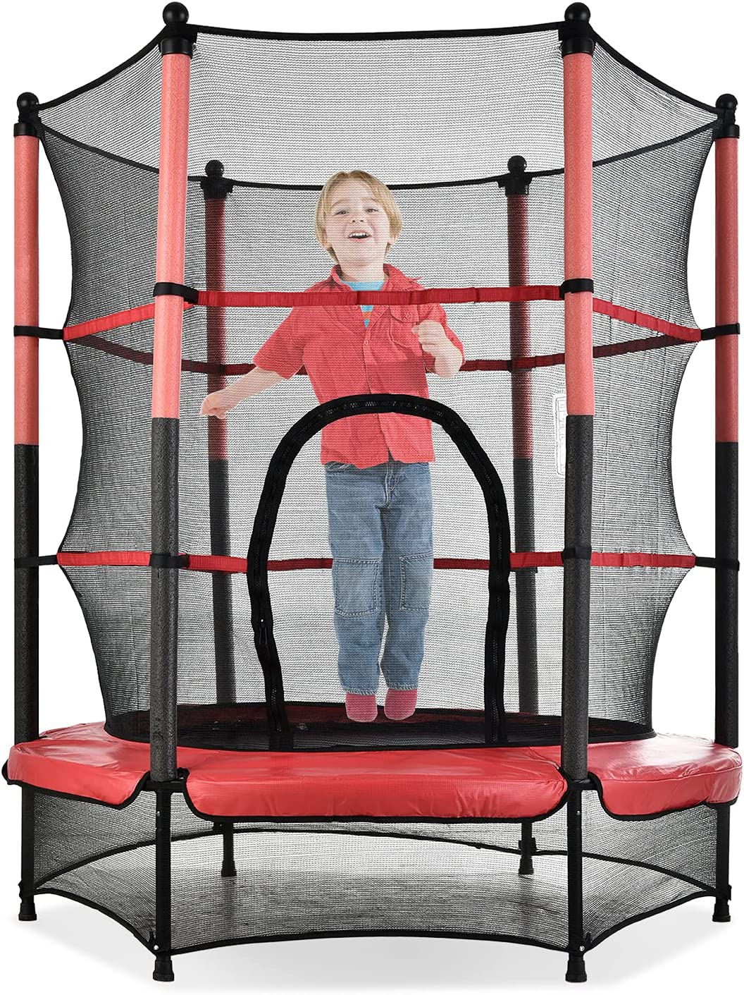 55-inch Special Campaign Trampoline for Children Max Al sold out. Gua 110lbs Pink-Black Load