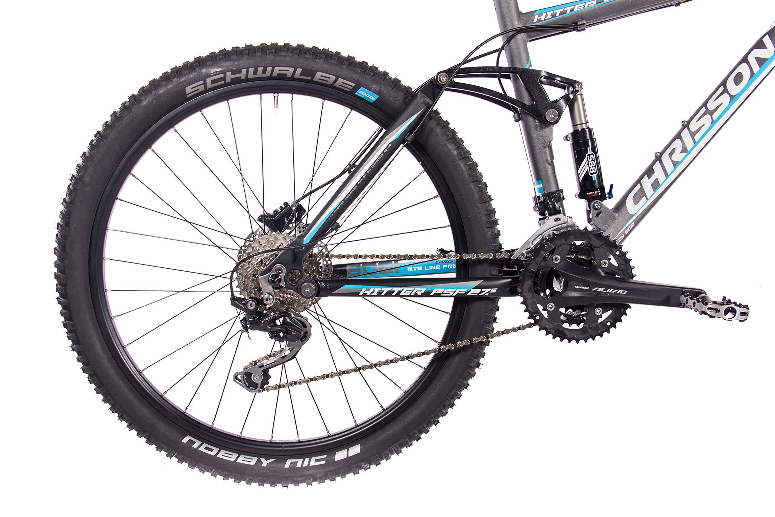 CHRISSON Bicicleta de montaña Fully de 27,5 pulgadas – Hitter FSF ...