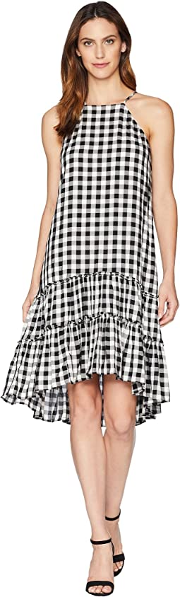 Gingham Ruffle Hem Dress