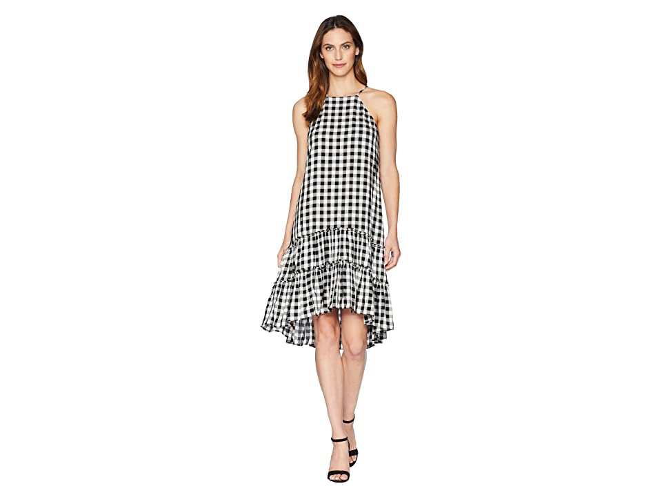 Karen Kane Gingham Ruffle Hem Dress (Check) Women
