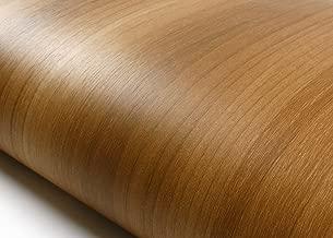 ROSEROSA Peel & Stick Premium Wood Backsplash Walnut Wood Pattern Self-Adhesive Wallpaper Shelf Liner Table and Door Reform (KW117N : 2.00 Feet X 6.56 Feet)