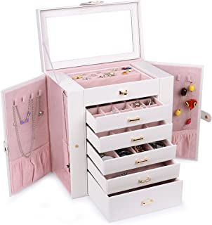 pink and white jewelry box