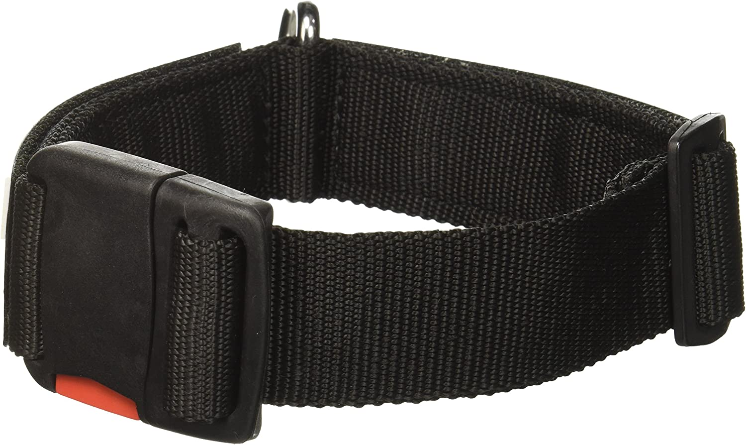 Dean and Tyler Patch Collar, Nylon Dog Collar with Working Dog DO NOT PET Patches  Black  Size  Small  Fits Neck 18Inch to 21Inch