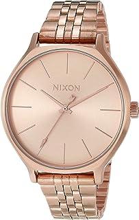 ساعة Nixon Clique النسائية على طراز المجوهرات (38 مم سوار من الفولاذ المقاوم للصدأ) روز جولد