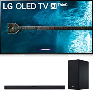 "LG OLED65E9PUA 65"" E9 4K HDR OLED Glass Smart TV w/AI ThinQ (2019 Model) and SL6Y 420W 3.1-Channel Soundbar System DTS: Virtual X Bundle"
