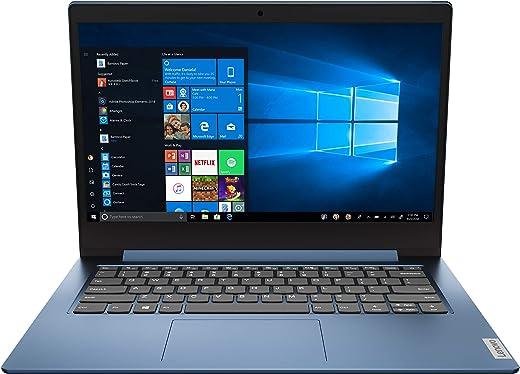 "Lenovo IdeaPad 1 14 14.0"" Laptop, 14.0"" HD (1366 x 768) Display, Intel Celeron N4020 Processor, 4GB DDR4 RAM, 64 GB SSD Storage, Intel UHD Graphics 600, Win 10 in S Mode, 81VU0079US, Ice Blue"