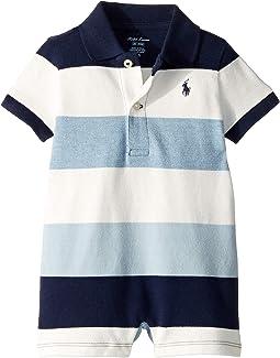 Cotton Mesh Polo Shortall (Infant)