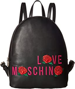 LOVE Moschino - Logo Rose Backpack