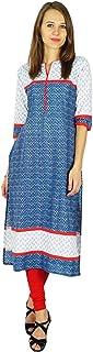 Phagun Bollywood Kurta Indian Designer Women Ethnic Kurti Cotton Tunic Dress