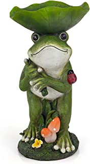 VP Home Rain Catcher Frog Solar Powered LED Outdoor Decor Garden Light