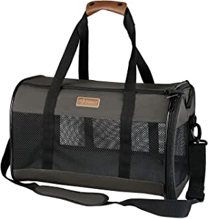 Akinerri Airline Approved Pet Carriers,Collapsible Soft Sided Pet Travel Carrier for Dogs and Cats