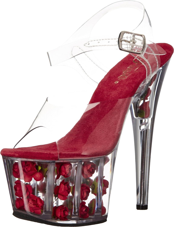Pleaser Women's ADO708FL C R Platform Dress Sandal