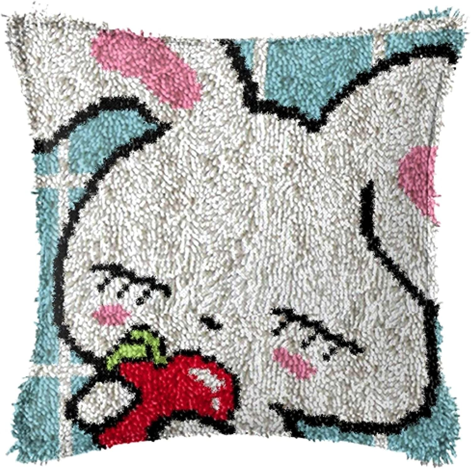 DIY Latch Limited price sale Hook Kits Throw Pillow f Needlework Crafts Gorgeous Rug Crochet