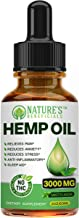 Organic Hemp Oil Extract Drops 3000mg - Ultra Premium Pain Relief Anti-Inflammatory, Stress & Anxiety Relief, Joint Suppor...