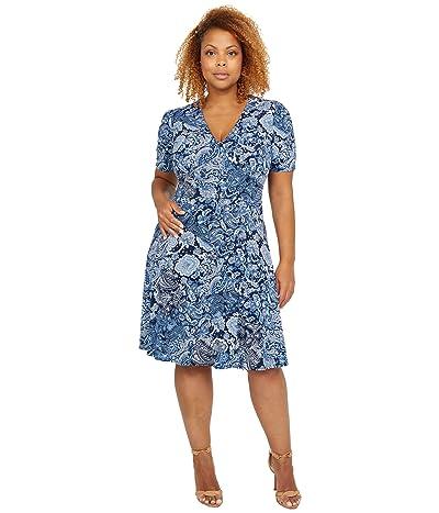 MICHAEL Michael Kors Arabesque Paisley V-Neck Dress Women