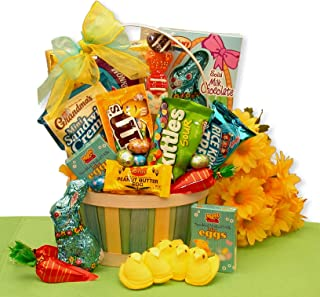 Easter Goodies Easter Gift Basket filled with Easter sweets for College Students