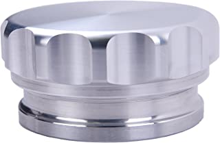 HiwowSport 2inches Aluminium Alloy Fuel Cap Weld On Filler Neck And Oil Tank Cap (2inch, Silver)