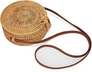 Molodo Women`s Handmade Bamboo Handbag Summer Beach Sea Tote Bag