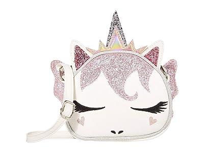 OMG! Accessories Glitter Unicorn Fairy Crossbody (White) Handbags