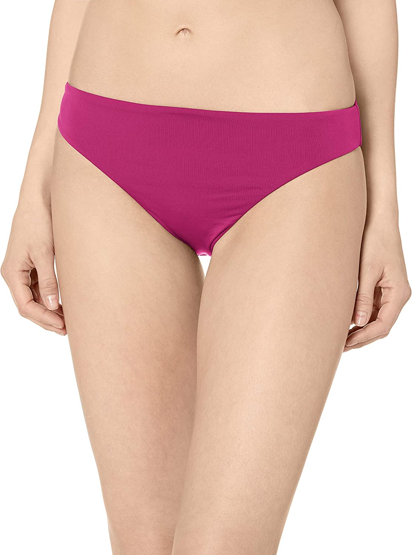 Bikini Lab Women's Core Solids Cinched Back Hipster Pant Bikini Bottom