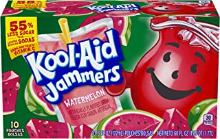 Kool Aid Jammers Watermelon Juice Pouches (6 oz Pouches, Pack of 10)