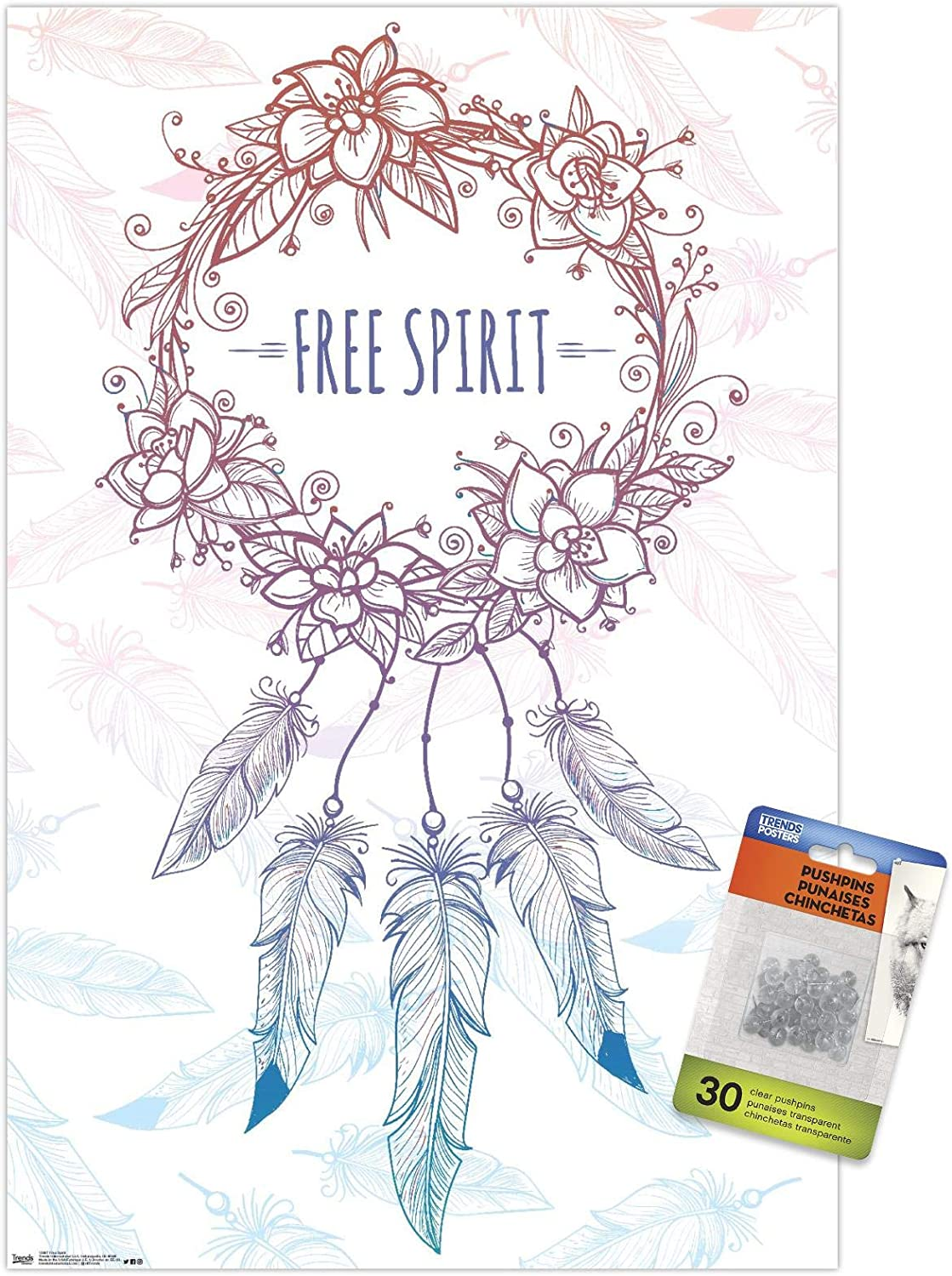 Sales Free Animer and price revision Spirit Wall Poster Pins with Push