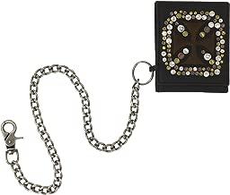 محفظة رجالية قابلة للطي من C-Red مع بطانة من الجلد البني مع أشكال متعددة