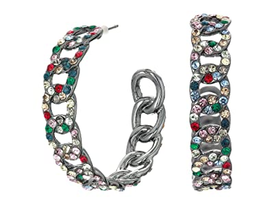 J.Crew Glitz Pave Curb Chain Earrings (Multicolor) Earring