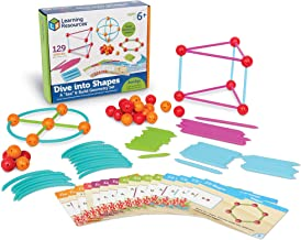 Learning Resources Dive into Shapes! A Sea and Build Geometry Set, 129 Pieces, Ages 6+