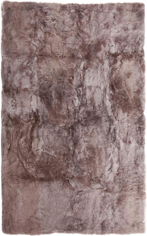 Contemporary Home Living 8' x 10' Soft Bombing new work Brown Max 72% OFF Rectangu Alpaca Fur