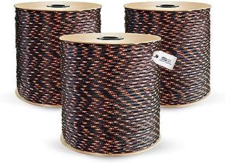 DQ-PP POLYPROPYLENSEIL | 3mm | 100m | SCHWARZ Polypropylen Seil | Tauwerk PP Flechtleine Textilseil Reepschnur Leine Schnur Festmacher Rope Kordel Kunststoffseil Kletterseil geflochten