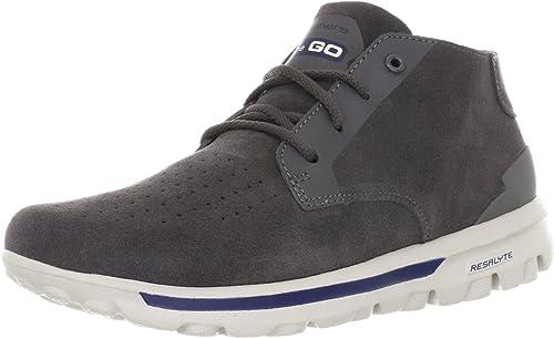 Skechers On The GO 53512 GRY - Hauszapatos de cuero para hombre