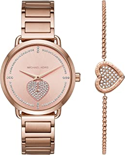Women's Portia Three-Hand Rose Gold-Tone Stainless Steel Watch MK4468