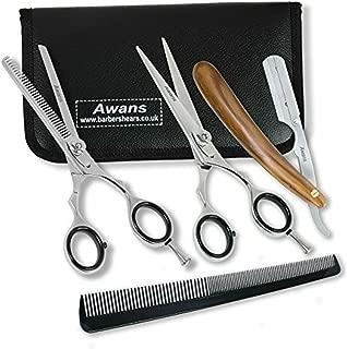 Hairdressing Barber Salon Scissors 5.5, Thinning Scissors 5.5, Razors Edge,Wooden Handle Shaving Razor Handle Size 13 Cm,shaving knife,Nabaja Barbera