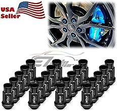 EZAUTOWRAP Black 20 PCS M12x1.25 Lug Nuts Short 50mm Tuner Open End Aluminum Wheels Rims Cap WN01
