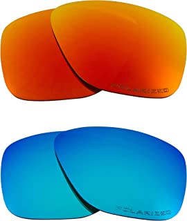 SEEK Replacement Lenses Compatible with OAKLEY BREADBOX Polarized Blue & Red