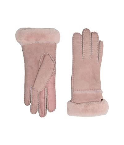 UGG Seamed Tech Water Resistant Sheepskin Gloves (Pink Crystal) Extreme Cold Weather Gloves